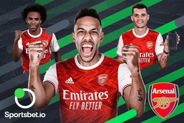 Sportsbet.io, patrocinador oficial do Arsenal.