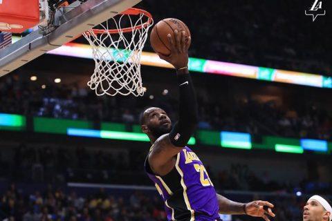 LeBron James é o destaque do Lakers
