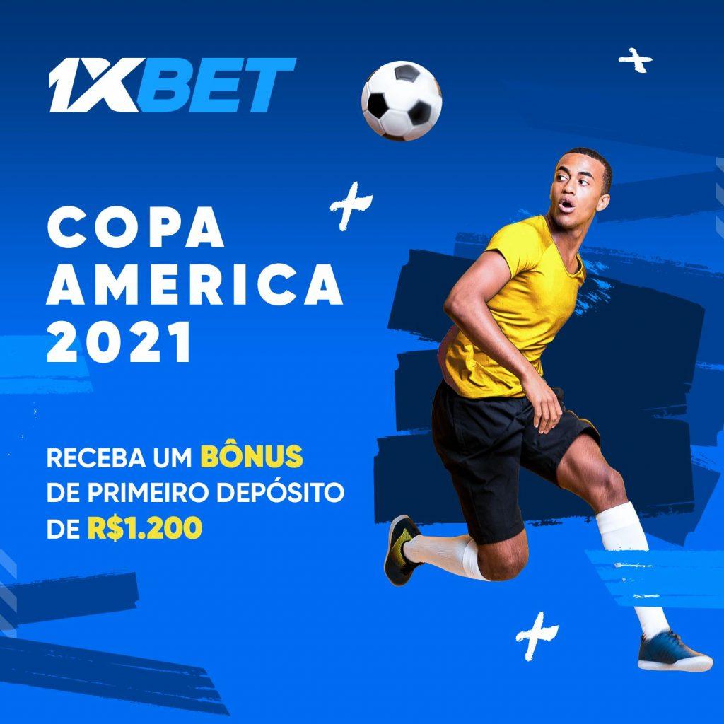 Bônus na 1xBet para a Copa America.