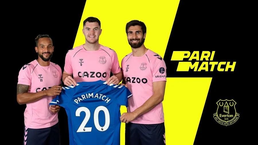 Everton é Parimatch.