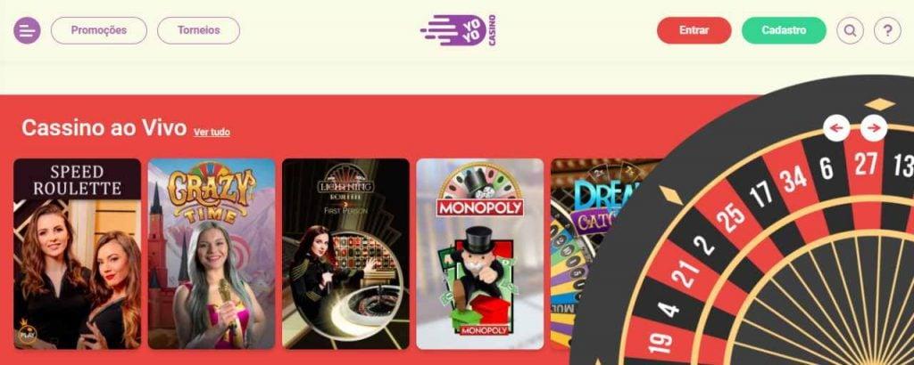 Cassino online da Yoyo Casino.